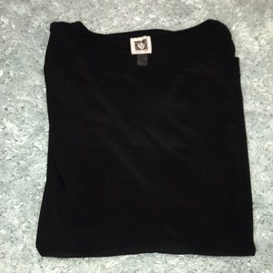 a black top with cut sleeves